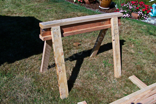 Completed sawhorse