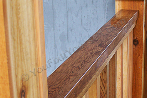 dimensional lumber cedar railing