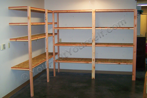 DIY 2x4 Shelving for Garage or Basement - dadand.com - dadand.com