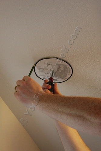 Marking Hole for Recessed Can Light