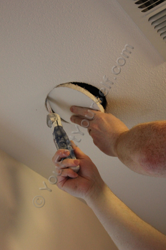 Cutting Hole for Recessed Can Light Installation